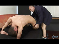 The daddies are probably three times as old as the skinny twink in the threesome with them. ...