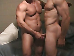 hot, nasty, verbal talk near the end of the video. the dude getting fucked, his cock is leak...