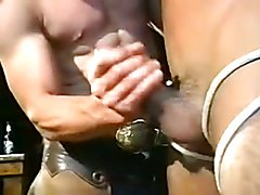 Cowboy is dominating! Hot scene whit a young blong guy + little bit of bondage
