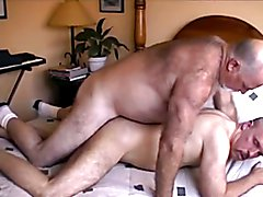 A daddy bear friend of mine stopped by one day to fuck me. He shot two loads of cum in me.