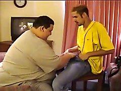Hot chubby blowjob