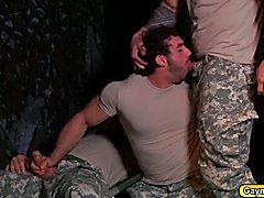 Bootcamp gaymen Colby Jansen Jaxton Wheeler Zeb Atlas doing a threesome steaming hot blowjob...