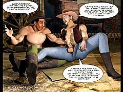 Saddle up for a rollickin' ride in the old west! Gay cowboys are at every turn as a lone c...