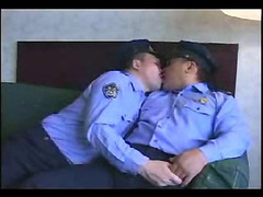 Two Japanese daddies sit in bed and play with each other in a slow, sexy kind of way. Finger...