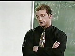 The teacher has one just one student today and is about to give him a lesson in gay sex. The...