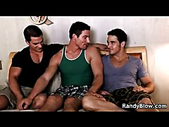 You can have foreplay in a threesome and these muscular studs show us how. They all get busy...