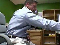 Ben Archer fucks a hot guy bareback in his office. Fucking hot!!