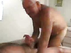 The hot video stars two old guys into gay loving with hot oral sex, anal dildo play, and som...
