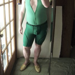 Me in my lycra/spandex collection