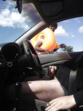 Jerking off in car being watched