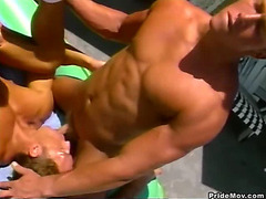 A horny hunk gets sucked off before getting ass fucked hardcore.