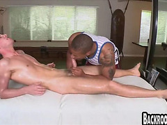 Straight guy fucked by black cock after blowjob