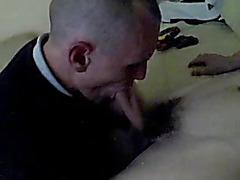 Amateur daddy sucks twink cock