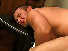 Muscular bodies in anal scene