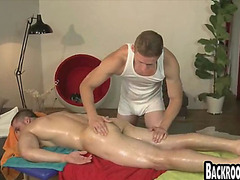 Sexy rubdown massage with studs and oil euros