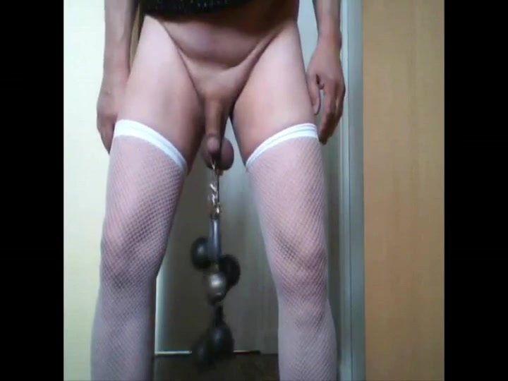 Sissy ball stretching amateur