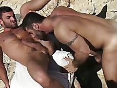 An amazing scene at a rocky beach