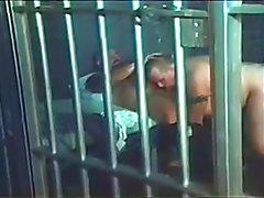 Hot Bear Cop Officer is fucking a horny bear prisoner!