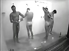 hung guys in shower