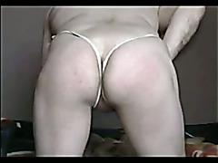 Part.2 Crossdresser G-string White
