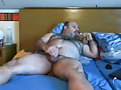 fucking chubby bear by big dildo 2