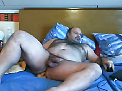 fucking chubby guy by big dildo 2