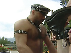hairy leather daddy's 2 boys