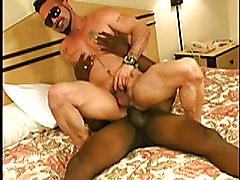 Latino jock stud deepthroats black daddy DILF huge