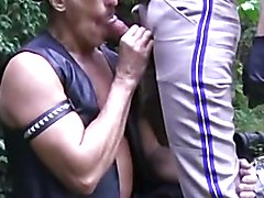 Hot daddies Leather Man and Police officer having a
