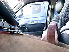 Driving and jerking in public, getting caught by truckers, and getting horny!