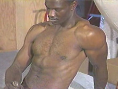 This hot ebony hunk enjoys stroking his big cock just for you.