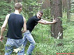 Horny gay stud wants handsome master to give him a memorable bdsm beating at the woods.