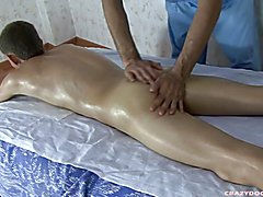 Cute gay boy gets his body rubbed and bunghole massaged