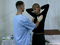 The heat is rising for young twink as doctor thoroughly examines his young body.