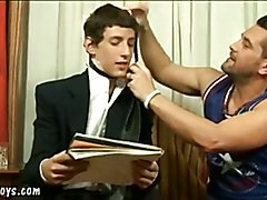 Nasty daddy seduces a gorgeous blue-eyed youngster