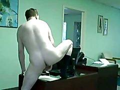 Risky office wank