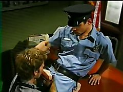 Hot prisoner is fucked by hot police officer in the