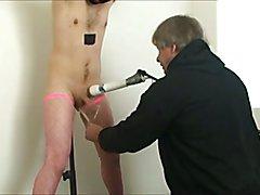 impaled milked sissy drinks cum