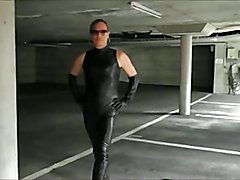 slut leather shemale meet leather man  soft