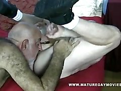 Hairy Old Guy Fucks His Mature Friend