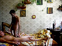 Turkish boy loves to feel hard Russian cock in his ass