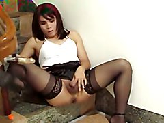 Hot Asian CD Toys On Stairs