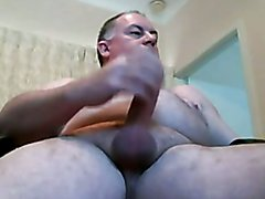 Handsome chubby daddy jerking off