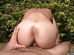 A glorious gay fuck outdoors