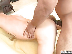Interracial doggy style sex