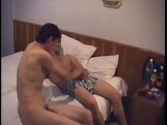 The hotel room plays host to two Turkish gay guys with their eyes set on anal sex. They fuck...