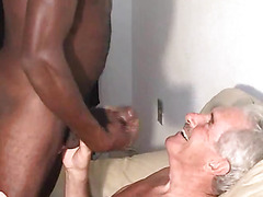 The grandpas hook up with hard black cock in the great