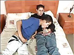 Gay Latino sex and facial