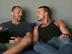 Hot Dad cums in his mouth