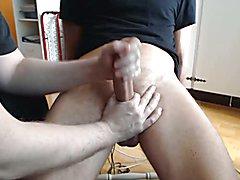 Me milking a big cock
